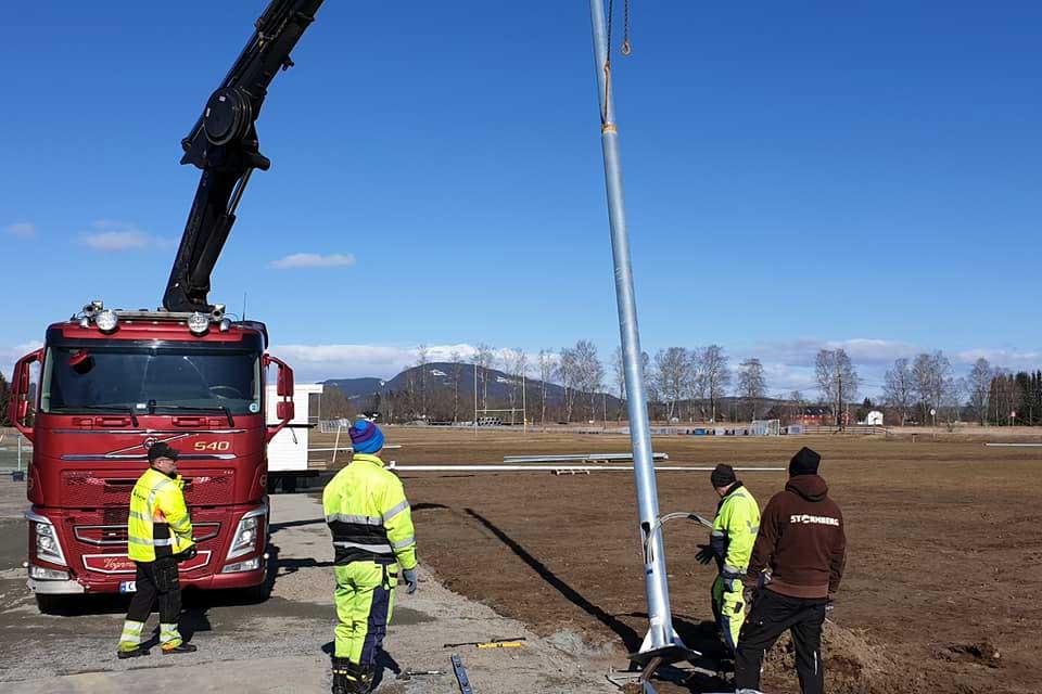 Anleggsarbeid på Bøn stadion